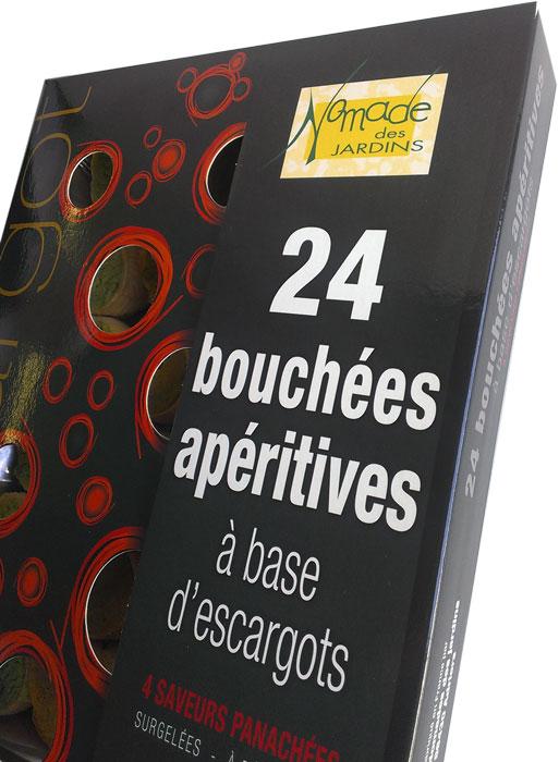 24 bouchées assorties